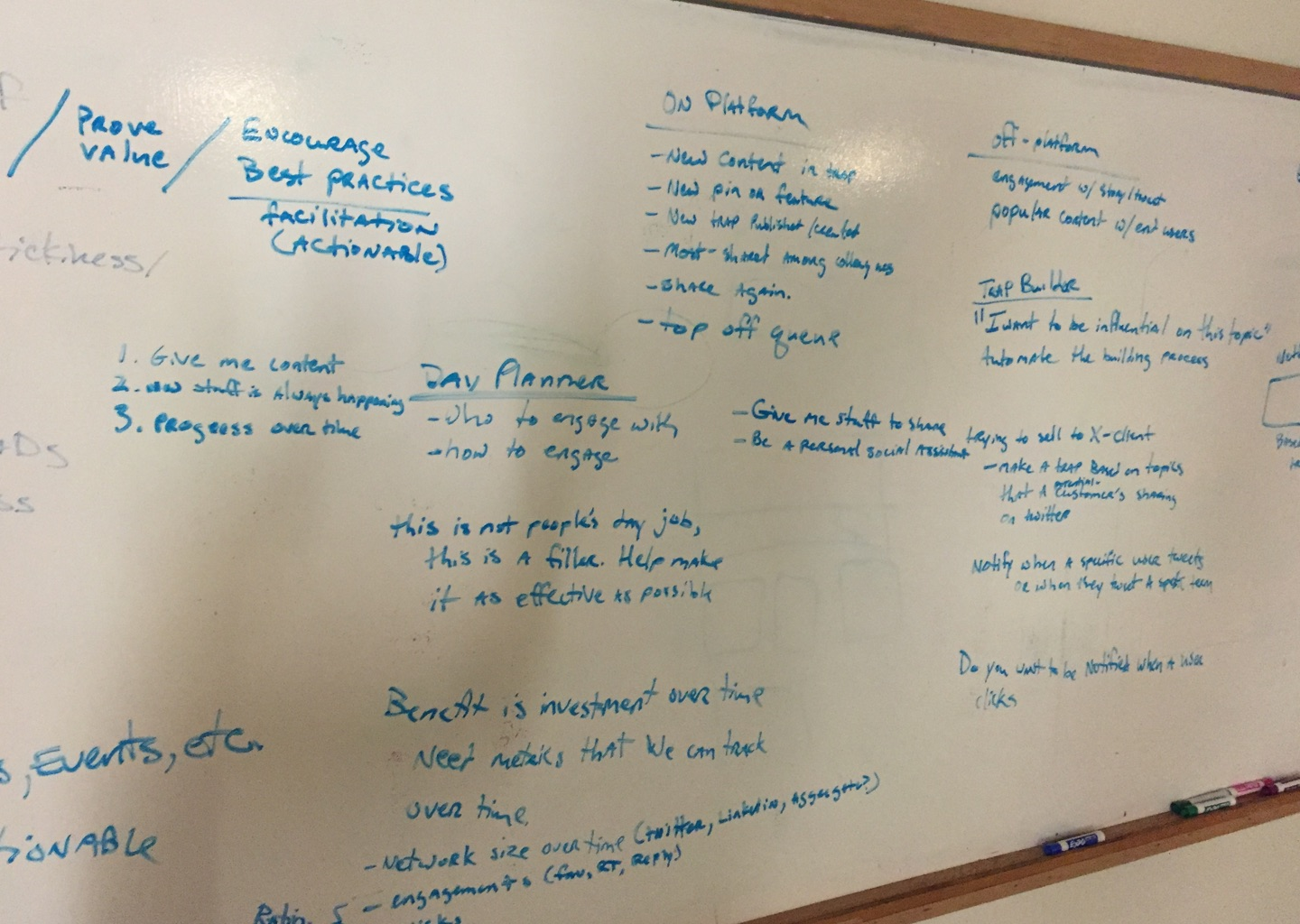 A full white board.